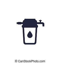 water filter icon, eps 10 file, easy to edit