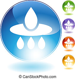 Water Filter Icon isolated on a white background.