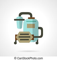 Water filter system flat vector icon - Flat color vector ...