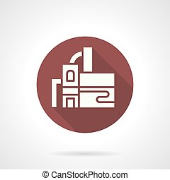 Water filtering station round vector icon