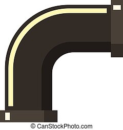 Water filtration system icon, flat style
