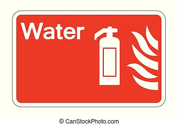 Water Fire Safety Symbol Sign on white background, vector illustration