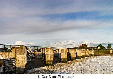 Water flood-gate perspective view, Mont Saint-Michel