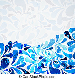 water floral drops background