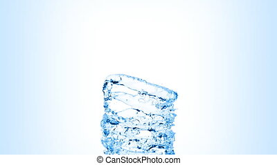 Water swirl flowing on blue background with alpha mask in HD.