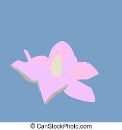 Water flower, illustration, vector on white background.