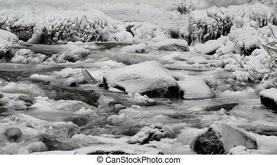 Water Flowing along Latourell Creek