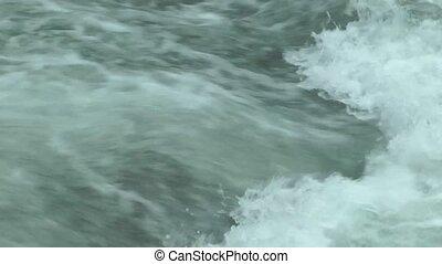 Water flowing around