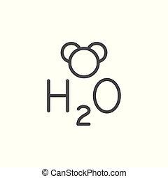 Water formula line icon
