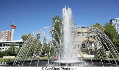 Central Memorial Park water feature