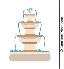 Water fountain design, vector illustration.