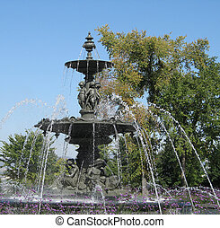 water fountain in a park