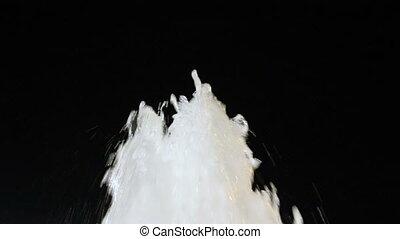 Water fountain white black backgrou