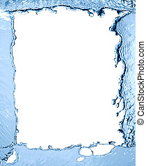 water, frame, gespetter
