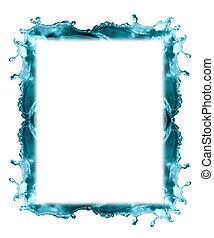 Water Frame On White