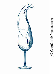 Water from a glass