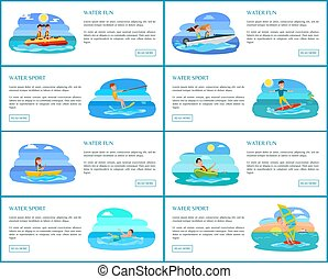 Water Fun Collection of Web Vector Illustration - Water fun ...