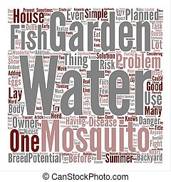 Water Garden Mosquitoes Problems Word Cloud Concept Text Background