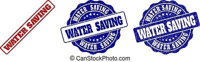 water, gekraste, postzegel, besparing, zegels