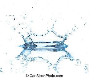 water, gespetter, achtergrond, vrijstaand, reflectie, witte