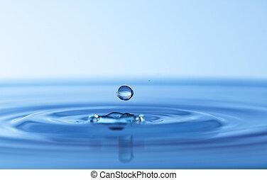 water, gespetter, druppels