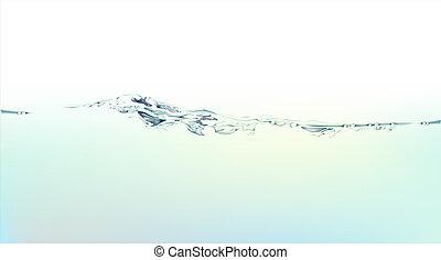 water, gespetter, en, vloeistof