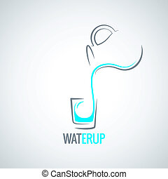 water glass bottle menu background