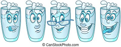 Water glass collection