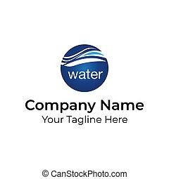 Water Globe Wave Logo Vector