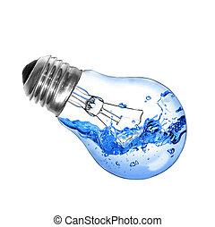 water, gloeilamp