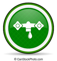 water green icon hydraulics sign
