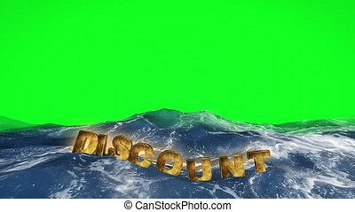 water, groene, korting, zwevend, scherm