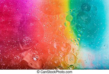 water, gronden, olie, oppervlakte