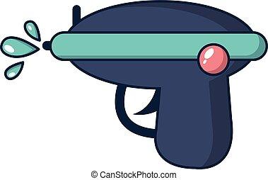 Water gun icon, cartoon style - Water gun icon. Cartoon...