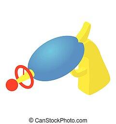 Water gun icon, cartoon style - Water gun icon in cartoon...