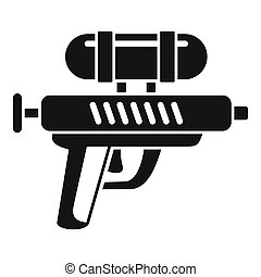 Water gun icon, simple style