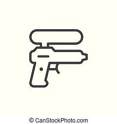 Water gun line icon