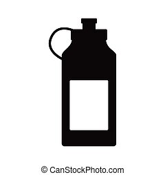 water gym bottle silhouette style icon