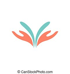 water hand care design logo vector