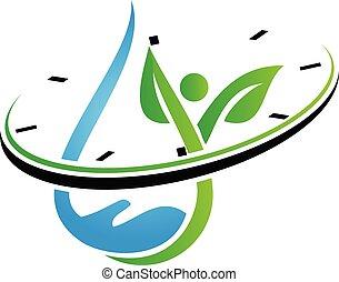 Water Hand Leaf Watch