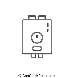 Water heater, boiler line icon.