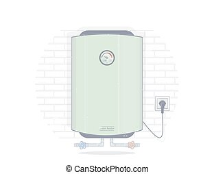Water heater electric. Illustrations for the online store of plumbing.