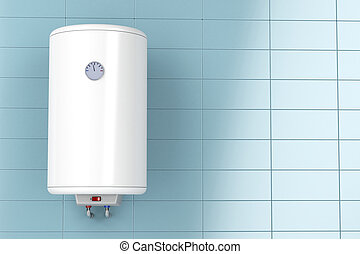 Electric water heater in the bathroom