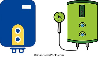 Water heater icon on white background
