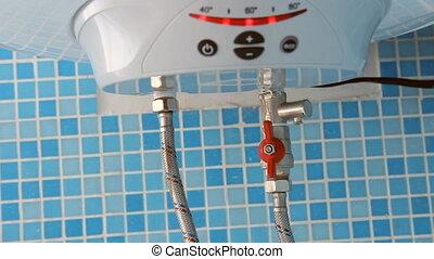 Water heater in the bathroom (boiler)