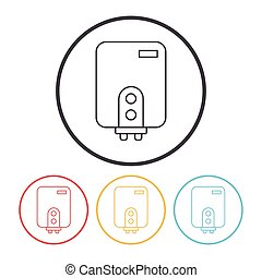 Water Heater line icon