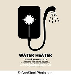 Water Heater. - Water Heater Vector Illustration.