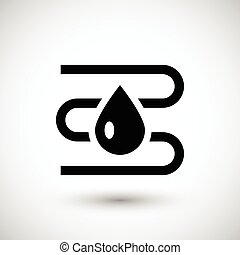Water heating system icon isolated on grey. Vector ...