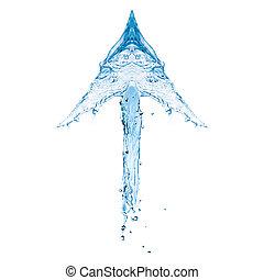 water, het tonen, pijl omhoog