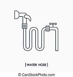 Water hose outline icon